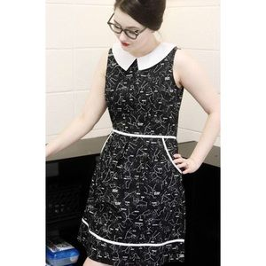 Modcloth Retrolicious Glow Space Dress Novelty